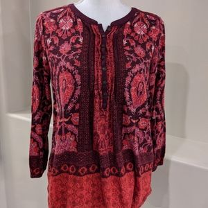 Lucky Brand Long Sleeve High Low Henly Top NWT
